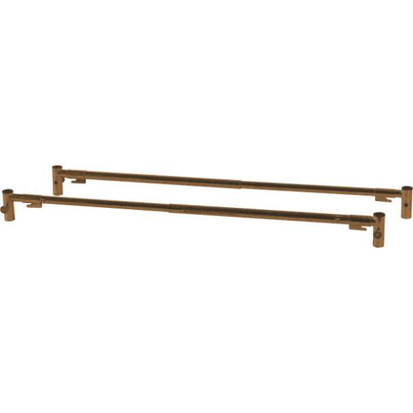Standard Telescoping Full-Length Side Rail, Brown-Vein Finish