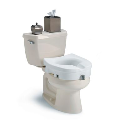 Clamp-On Raised Toilet Seat Without Arms